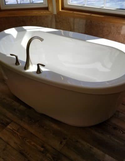 Freestanding Tub & Flooring